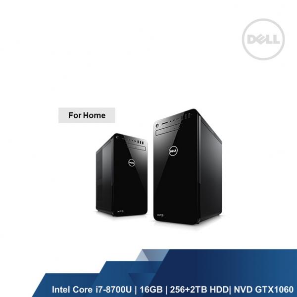 DELL XPS 8930 (INTEL I7-8700U 16GB,256+2TB,NVD GTX1060,WIN10HOME,1YRS)