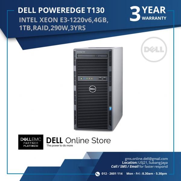 DELL POWEREDGE T130 SERVER (INTEL XEON E3-1220,4GB,1TB,RAID