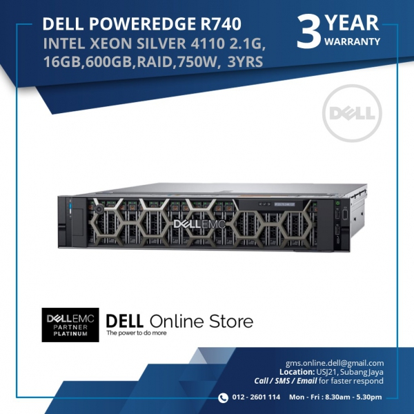 DELL POWEREDGE R740 SERVERS(INTEL XEON SILVER 4110 2 1G,16GB