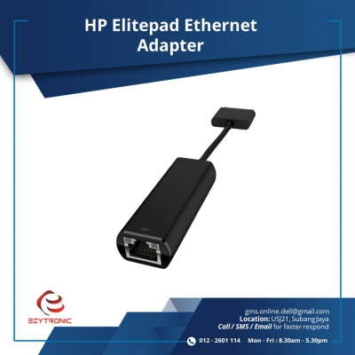 HP Elitepad Ethernet Adapter (H3N49AA) Elitex2 1011 G1;ElitePad 1000 G2,900 G1