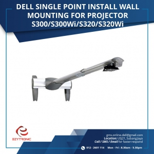 DELL SINGLE POINT INSTALL WALL MOUNTING FOR PROJECTOR S300/S300Wi/S320/S320Wi