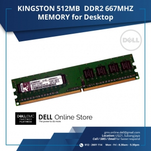 KINGSTON 512MB  DDR2 667MHZ MEMORY for Desktop