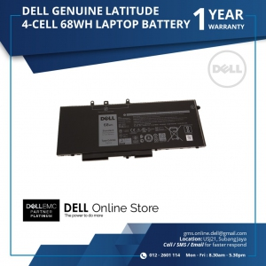 DELL GENUINE LATITUDE 5480 / 5580 / 5280 4 CELL 68WH LAPTOP BATTERY