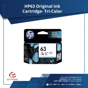 HP 63 TRI-COLOR INK CARTRIDGE/HP DeskJet 3634
