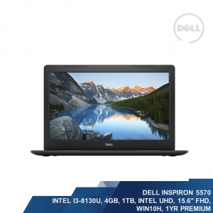 DELL INSPIRON 15 5000 SERIES-5570 (INTEL I3-8130U,4GB,1TB,FHD,INTEL 620, WIN10H,1YR)