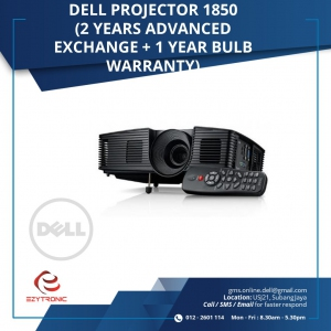 Dell Projector 1850 (2 years Advanced Exchange + 1 year bulb warranty)
