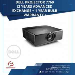 Dell Projector 7760 ( 2 years Advance Exchange+1 year bulb warranty )