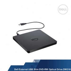 DELL EXTERNAL USB SLIM DVD +/- RW OPTICAL DRIVE (DW316)