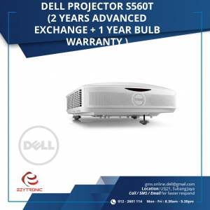 Dell Projector S560T ( 2 years Advanced Exchange + 1 year bulb warranty)