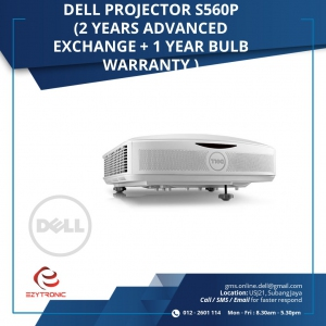 Dell Projector S560P (2 years Advanced Exchange + 1 year bulb warranty)