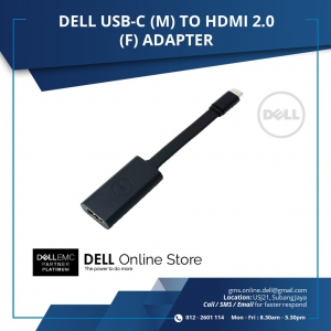 DELL USB-C (M) TO HDMI 2.0 (F) ADAPTER