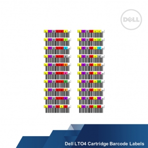 Dell LTO4 Cartridge Barcode Labels