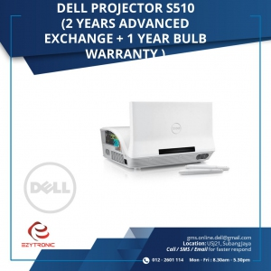 Dell Projector S510 ( 2 years Advanced Exchange + 1 year bulb warranty)