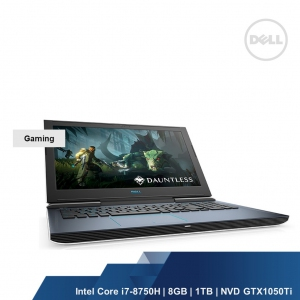 DELL GAMING G7 7588(INTEL I7-8750H,8GB,1TB+128GB,NVD GTX1050Ti 4GB,WIN10HOME,2YRS)