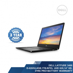 DELL LATITUDE 3400 (I5-8265U,8GB,1TB+256GB,INTEL UHD 620,14HD,3YRS PRO)