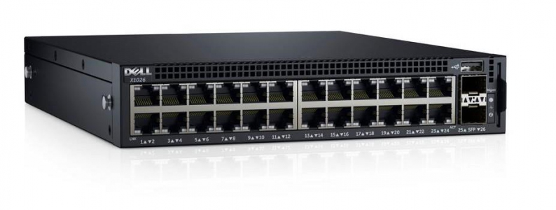 DELL NETWORKING X1026P SMART WEB, 24x1Gbe and 2 x 1GbE SFP ports (210-AEIN-X1026P)