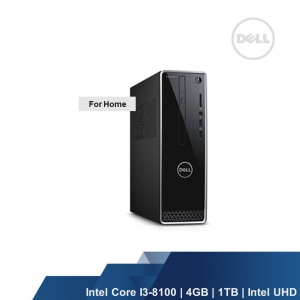 DELL INSPIRON DESKTOP 3470(INTEL i3-8100,4GB,1TB,INTEL UHD,WIN10HOME,2YRS)