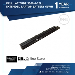 DELL LATITUDE 3560 6 CELL EXTENDED LAPTOP BATTERY 66WH