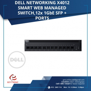 DELL NETWORKING X4012 SMART WEB, 12x 10Gbe SFP+ PORTS (210-AEOQ-X4012)