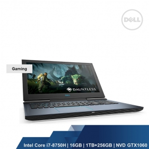 DELL GAMING G7 7588(INTEL I7-8750H,16GB,256GB SSD+1TB,NVD GTX1060 6GB,WIN10HOME,2YRS)