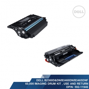 Dell B2360d&dn/B3460dn/B3465dnf 60,000 Imaging Drum Kit, Use & Return