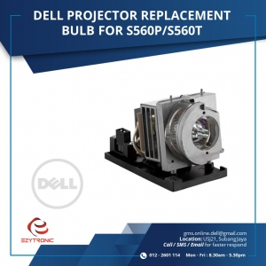 DELL PROJECTOR REPLACEMENT BULB FOR S560P/S560T