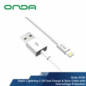 Onda Apple Lightning / TYPE-C 2.1A Fast Charge & Sync Cable with Overvoltage Protection