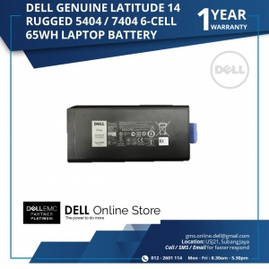 DELL GENUINE LATITUDE 14 RUGGED 5404 / 7404 6 CELL 65WH LAPTOP BATTERY